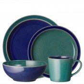 Service for 4 (16 Pieces) - Green/Blue