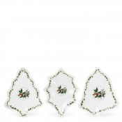 3-Piece Assorted Designs Christmas Sauce Dishes, 13.5x11cm