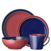 Service for 4 (16 Pieces) - Blue/Red