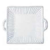 Square Platter with Handles, 42.5x35.5cm - Stripe