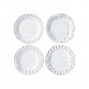 Set/4 Assorted Canape Plates, 16.5 cm