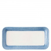Rectangular Hostess/Sandwich/Entertaining Tray, 34x16.5cm - Delft Blue