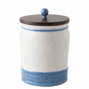 Round Canister with Wooden Lid, 25.5cm, 2.8L (3qt)