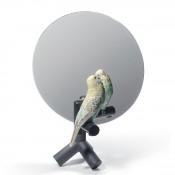 Parrot Vanity Mirror, 37cm