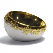 Naturofantastic Golden Bowl, 29cm