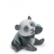 Animal Kingdom - A Happy Panda Figurine, 8cm