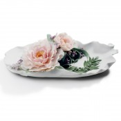 Tray with Peonies, 30cm