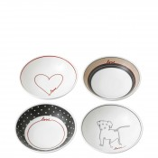 Set/4 Assorted Motifs Small Bowls, 14cm, 280ml