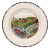 Bread & Butter/Side Plate #4 - Plowing, 17cm