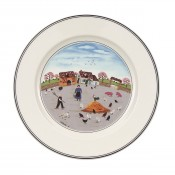 Dessert/Salad Plate #3 - Country Yard, 21cm