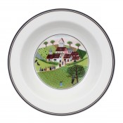 Rim Cereal Bowl #3 - Wedding Procession, 20 cm