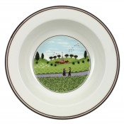 Rim Cereal Bowl #6 - Friend Meeting, 20 cm