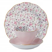 3 Piece Place Setting, Rose Confetti