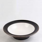 Noir - Rim Soup/Cereal Bowl, 22.5cm