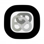 Black Square Platter, 32 cm