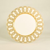 Accent Plate, 23cm - Gold Ring