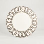 Accent Plate, 23cm - Platinum Ring