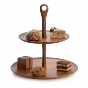 Wood 2-Tier Cake/Dessert Stand, 32cm