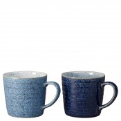 2-Piece Assorted Colours Alt Ridge Mug Set, 9.5cm, 400ml
