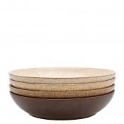 4-Piece Assorted Colours Pasta Bowl Set, 22cm, 1050ml