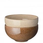 2-Piece Assorted Ramen/Large Noodle Bowl Set, 17.5cm, 1.2L
