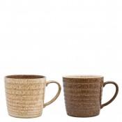 2-Piece Assorted Colours Alt Ridge Mug Set, 9.5cm, 400ml