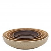 4-Piece Assorted Colours Nesting Bowl Set