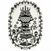 Oval Platter, 41x29cm - Black