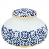 Round Bowl/Pot/Container with Lid, 33cm - Low