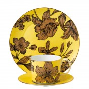 3-Piece Tea Set - Yellow Floral