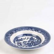 Set/8 Rim Soup Bowls, 22cm