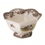 Hexagonal Footed Bowl, 21.5 cm