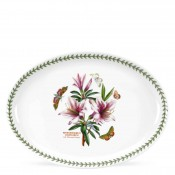 Oval Serving Platter, 37x27.5cm - Lily Flowered Azalea