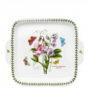 Square Dessert/Cake Serving Plate with Handles, 28cm - Sweet Pea