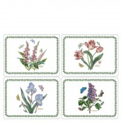 Pimpernel - Set/4 (Assorted Floral Motifs) Rectangular Hard Placemats, 40x29cm