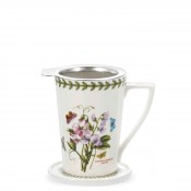 Tisaniere Tea Mug with Strainer, 400ml - Sweet Pea