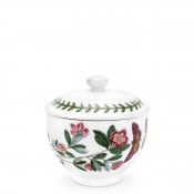 Covered Sugar Bowl, 10cm, 250ml - Traditional Shape - Rhododendron