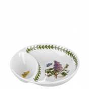 Small Round Divided Dish, 15.5cm - Garden Lilac