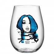 "Set/2 ""Miss You"" Blue Tumblers, 12cm, 635ml"