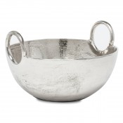 Large Metallic Bowl with Ring Handles, 35.5cm
