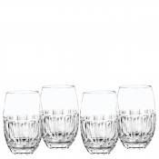 Set/4 Tumblers/Stemless Wine Glasses, 12.5cm, 355ml