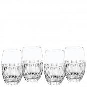Set/4 Tumblers/Stemless Wine Glasses, 12.5cm, 355ml