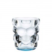 Set/2 Whisky Tumblers/Double Old Fashioned Glasses, 10cm, 330ml - Blue