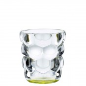 Set/2 Whisky Tumblers/Double Old Fashioned Glasses, 10cm, 330ml - Green