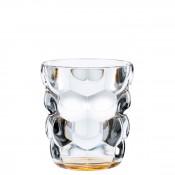 Set/2 Whisky Tumblers/Double Old Fashioned Glasses, 10cm, 330ml - Orange