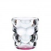 Set/2 Whisky Tumblers/Double Old Fashioned Glasses, 10cm, 330ml - Pink
