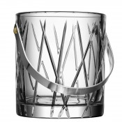 Crystal Ice Bucket with Stainless Steel Handle, 15cm
