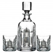 3-Piece Spirit Decanter & 2 Tumblers Set