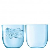 Set/2 Tumblers, 9cm,  400ml - Pale Turquoise