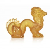 Small Dragon Sculpture, Amber